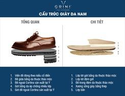 Cấu trúc giày da nam hàng hiệu kiểu Italy