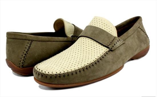 Giày lười Italy đế bệt cao cấp - Fabiano Ricci - HCU026