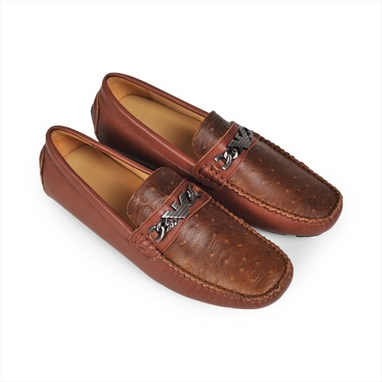 Giày mọi nam đẹp Armani3149 Nâu